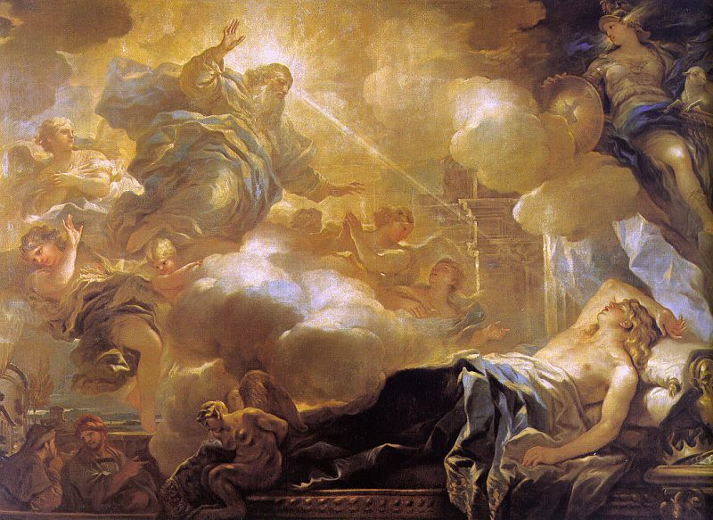 Giordano, Luca (Italian, 1632-1705) - The Dream of Solomon, 1693, oil on canvas, Museo del Prado, Madrid - http://cgfa.dotsrc.org/g/g-5.htm